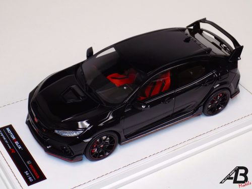 HONDA 2017 CIVIC Type R Gloss Black | MOTORHELIX | 1:18