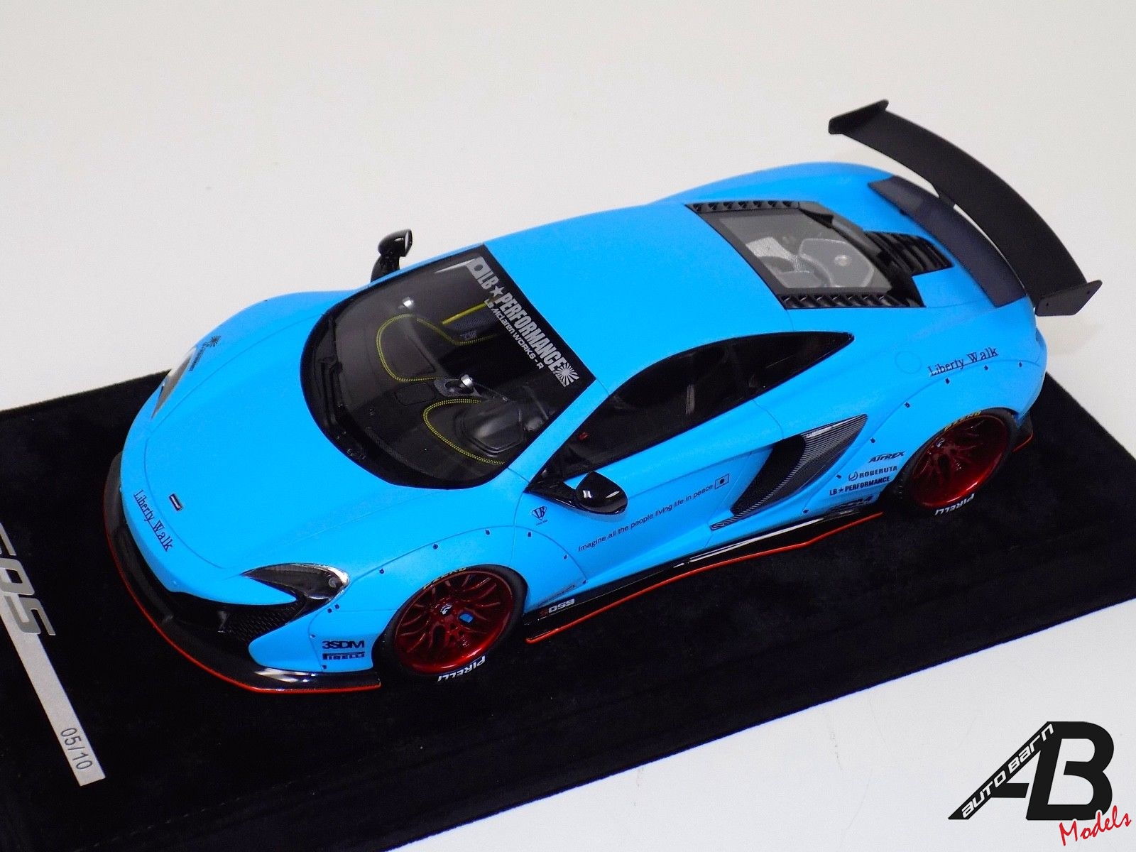 McLaren 650 S LB Performance Liberty walk in Matt Baby Blue