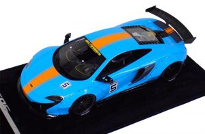 AB Models 1:18 McLaren 650 S Liberty Walk Baby Blue Orange Stripe