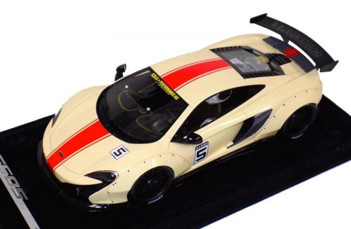 AB Models 1:18 McLaren 650 S Liberty Walk Beige Red Stripe