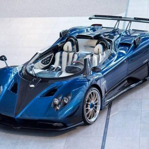 1:43 MR Collection Pagani Zonda HP Barchetta On Red Leather base
