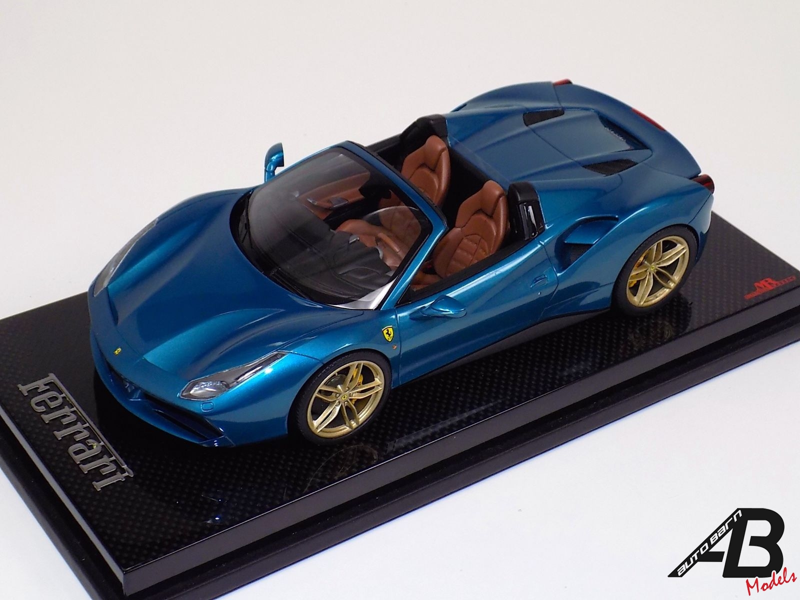 1:18 MR Collection Ferrari 488 Spider Artemis Green Gold wheels