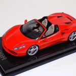 1:18 MR Collection Ferrari 488 GTB Spider Rosso Red Dino on Carbon