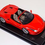 Ferrari 488 Spider Rosso Red Dino on Carbon Base-a