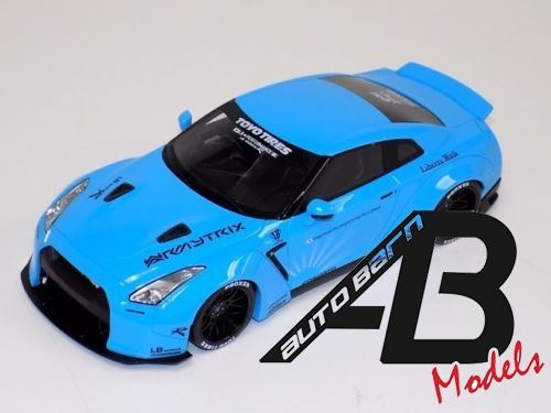 1:18 GT Spirit Nissan GT-R R35 LB Performance Libert Walk in Baby Blue
