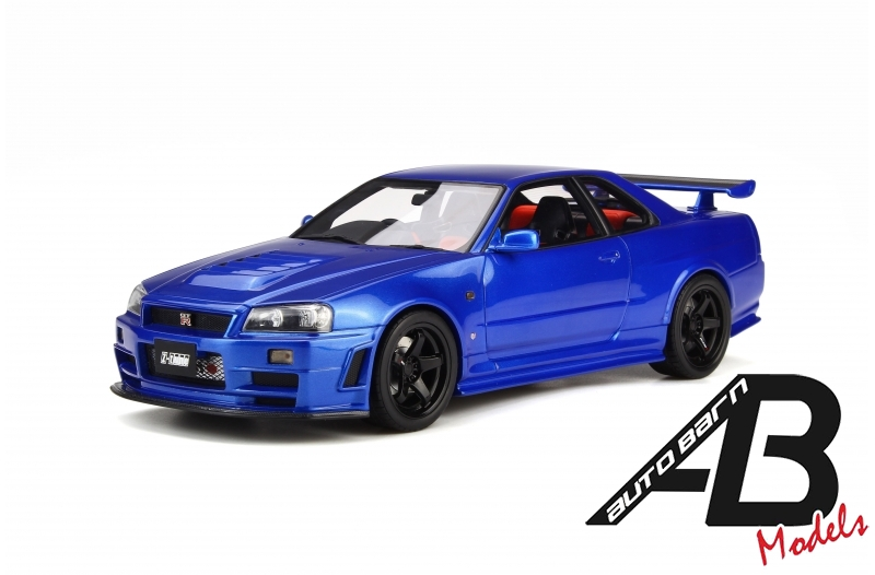 1:18 OttoMobile Nismo R34 GT-R Z-tune Blue OT743