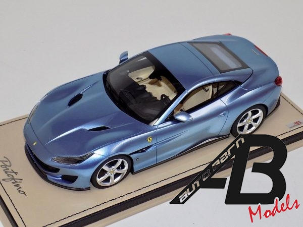 1:18 MR Collection Ferrari Portofino Hard Top Azzuro California on Leather