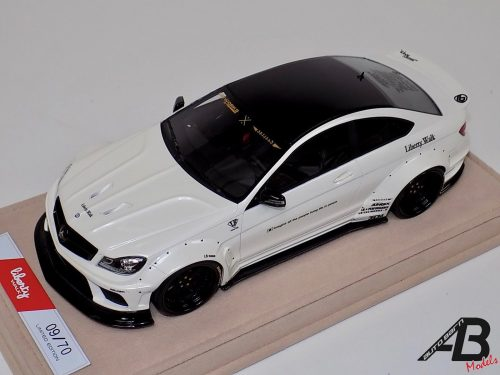 Mercedes Benz C63 AMG LB Performance White | Liberty Walk | 1:18