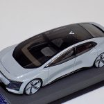 1:43 LookSmart Audi Aicon Concept Silver on Gray Leather Base