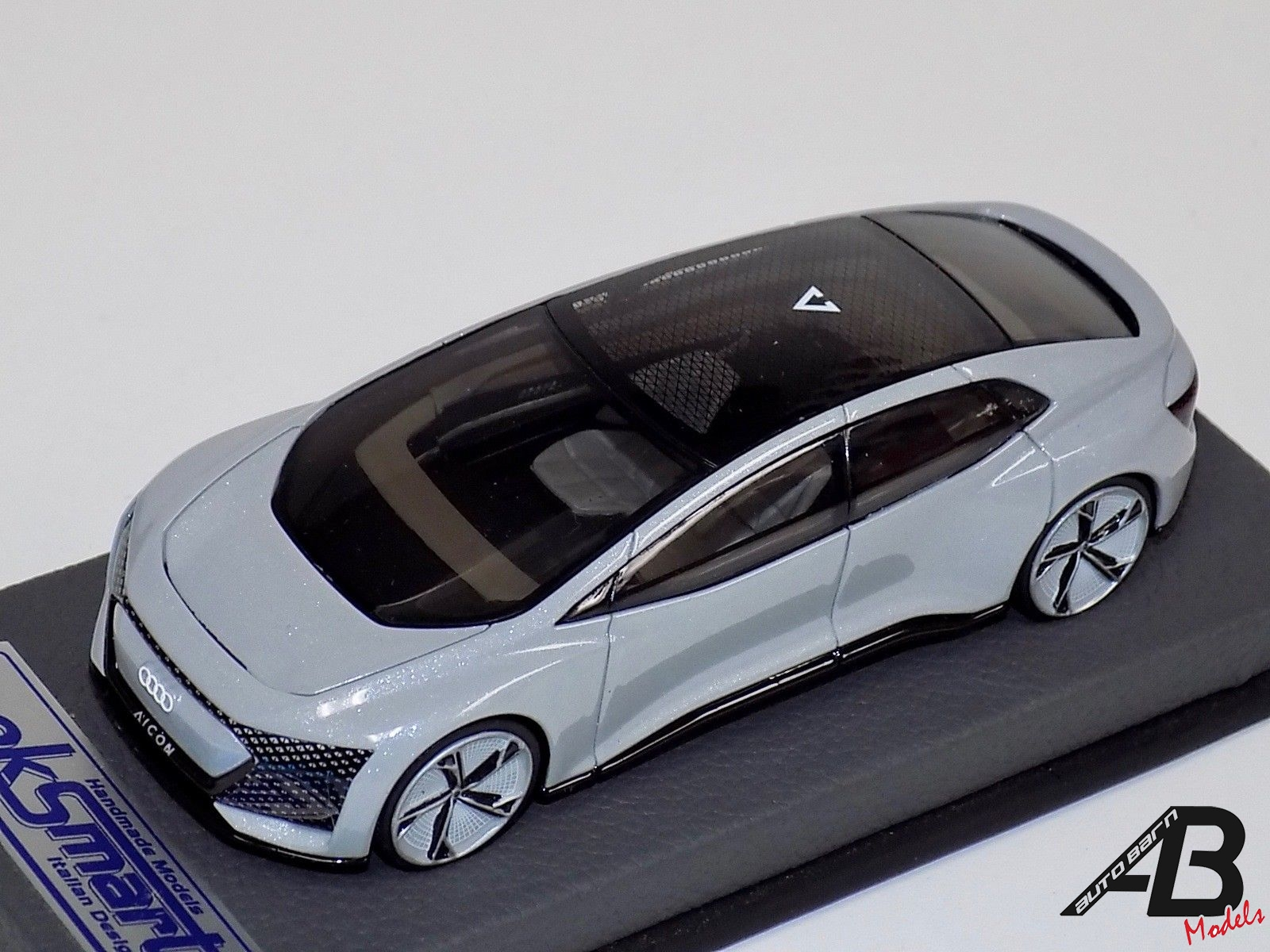Audi Aicon Concept Silver on Gray Leather Base