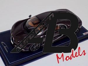 Bugatti Chiron Brown Carbon Body Leather Base | MR Collection | 1:18