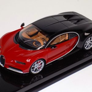 Bugatti Chiron Red and Black Carbon Base | MR Collection | 1:18