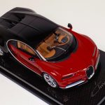 Bugatti Chiron Brown Red and Black on Carbon Fiber Base-a