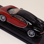 Bugatti Chiron Brown Red and Black on Carbon Fiber Base-c