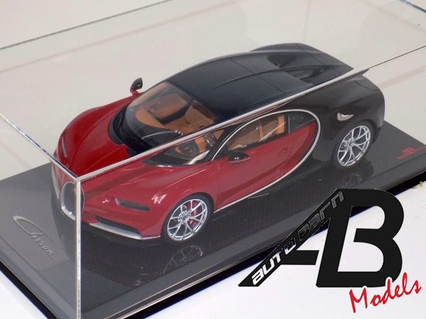Bugatti Chiron Brown Red and Black on Carbon Fiber Base-d