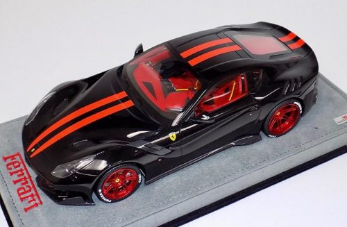 MR Collection 1:18 Ferrari F12 TDF Gloss Black Red Stripe