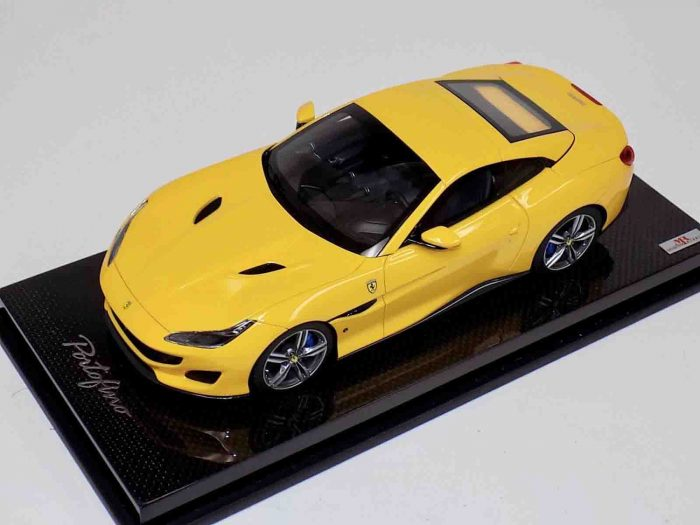 Ferrari Portofino Yellow Hard Top Carbon Base | MR Collection | 1:18