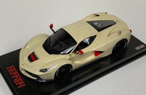 MR Collection 1:18 Ferrari LaFerrari Cream Black Wheels