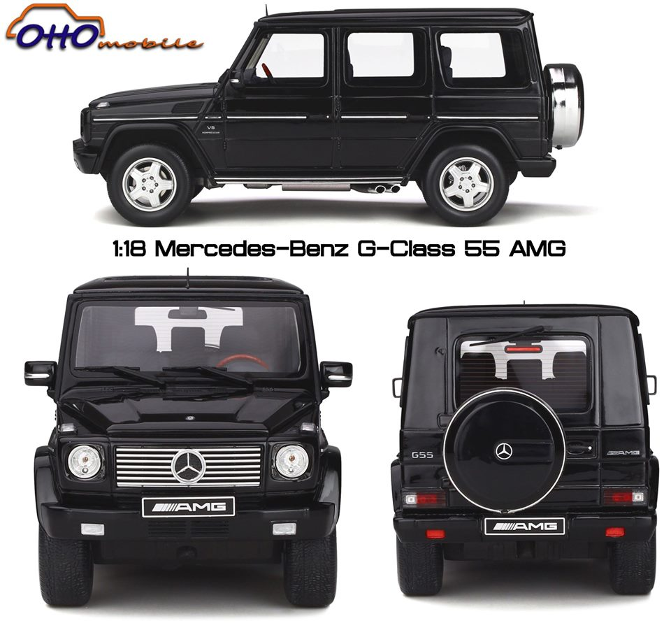 The Mythical G-class is coming to ottomobile! Here is our first model of September, a Mercedes-Benz G-class 55 AMG in the 1/18th!