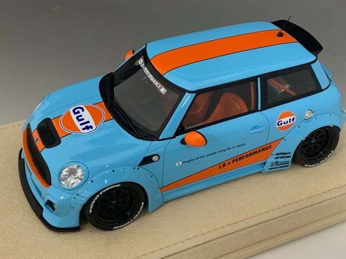 Mini Cooper LB Performance Gulf Edition | Liberty Walk | 1:18