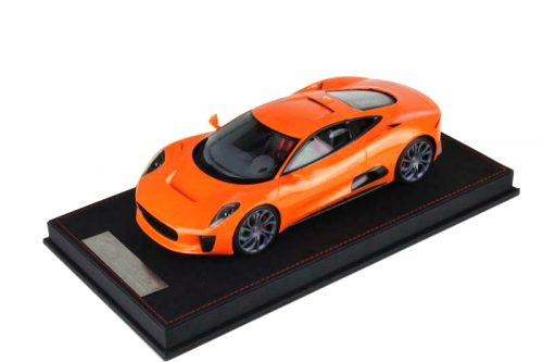 Jaguar C-X75 Concept Orange Leather Base | VAV Models | 1:18