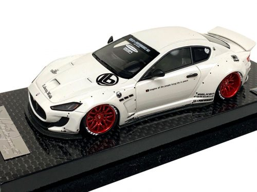 AB Models 1:43 Maserati GranTurismo Liberty Walk White Red Wheels