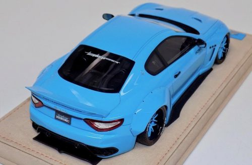 AB Models 1:18 Maserati Granturismo Liberty Walk Baby Blue Edition with Showcase