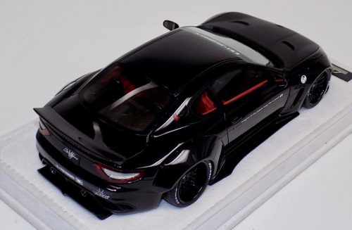 AB Models 1:18 Maserati Granturismo Liberty Walk Black Edition Red Interior with Showcase