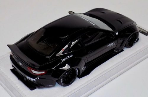 AB Models 1:18 Maserati Granturismo Liberty Walk Black Edition with Showcase