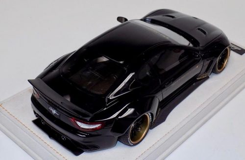 AB Models 1:18 Maserati Granturismo Liberty Walk Gloss Black with Showcase