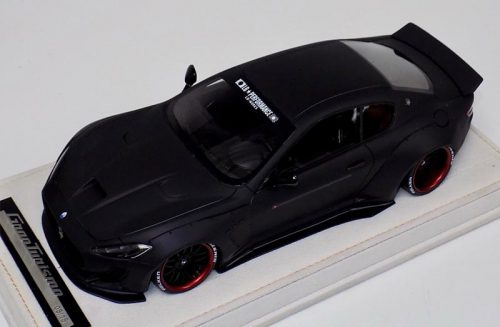 AB Models 1:18 Maserati Granturismo Liberty Walk Matt Black with Showcase