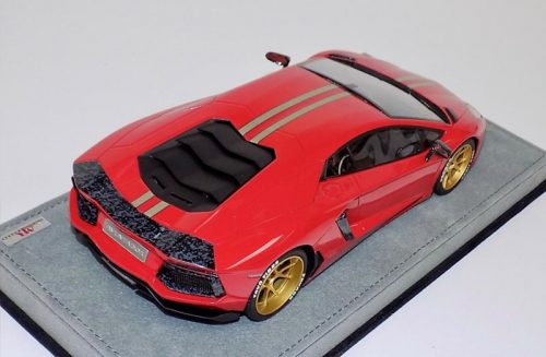 MR Collection 1:18 Lamborghini Aventador LP700-4 Red Gold Wheels