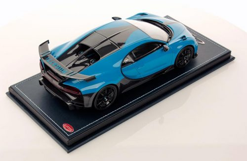MR Collection 1:18 Bugatti Chiron Pur Sport Agile Bleu