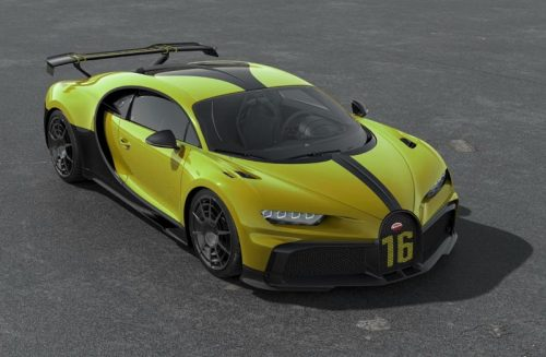 MR Collection 1:18 Bugatti Chiron Pur Sport Jaune Molsheim
