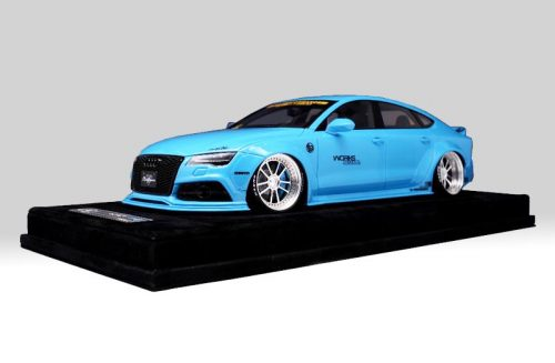 AB Models 1:18 Audi A7 Liberty Walk 2010 Baby Blue